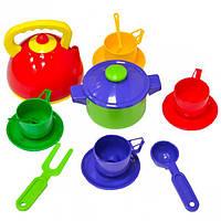 Набор посуды с чайником и кастрюлей 16 э… (арт.BS-316)