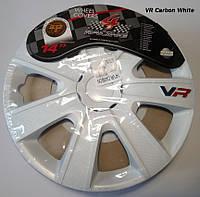 Автомобильные колпаки 4 Racing R14 VR CARBON WHITE