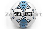 Мяч футбольный №4 SELECT  INDOOR Club matches and training (FPUG 1200, белый-синий)