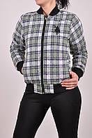 Куртка женская стеганая (ткань фланель, цв.зеленый/серый) CWAN 1100 Размер:42,44,46,48