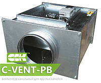 Вентилятор канальный для круглых каналов с назад загнутыми лопатками C-VENT-PB