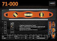Уровень Torpedo 3 глазка - 230мм., NEO 71-000