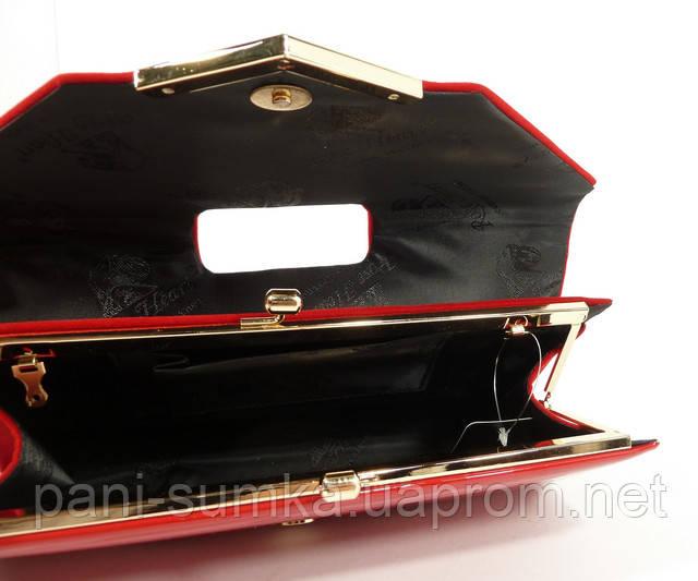 f9a8850a22d0 Вечерний клатч красный велюр/лак, сумочка Rose Heart 002, расцветки ...