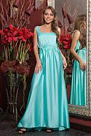 Праздничное длинное женское платье в пол из атласа