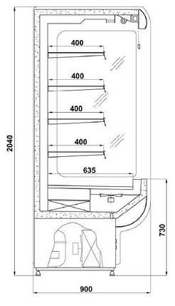 Холодильная горка Cold R-10, фото 2