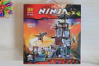 Большой Конструктор Нинзяго NINJAGO Оборона маяка 820 деталей размер коробки 36*38*8,5 см