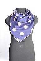 Платок женский синий в горошек