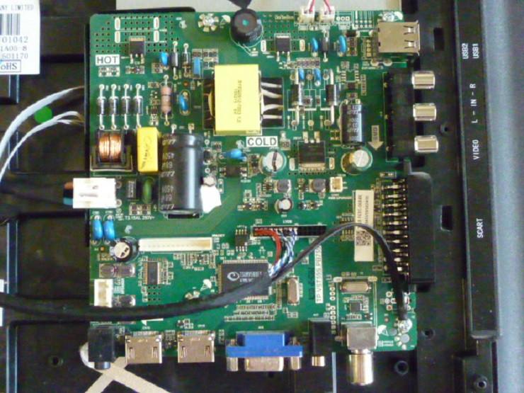 Платы от LED TV Elenberg 32AH4030 поблочно, в комплекте (разбита матрица).