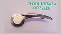 Ручка дверная,  цвет никель матовый, розетка 50мм, AL-502-29 SN