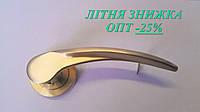 Ручка дверная, АКЦИЯ, латунь матовая, розетка 50мм,  АL-502-29 SG