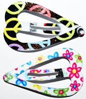 Заколки для волос тик-так, разные цвета, цветы, кружки(10 шт) 19_3_15a9