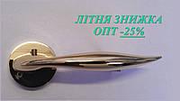 Ручка дверная, латунь полированая, розетка 45мм, АL-507Е-122 РG
