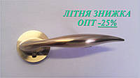 Ручка дверная,  латунь матовая, розетка 45мм, АL-507Е-122 SG