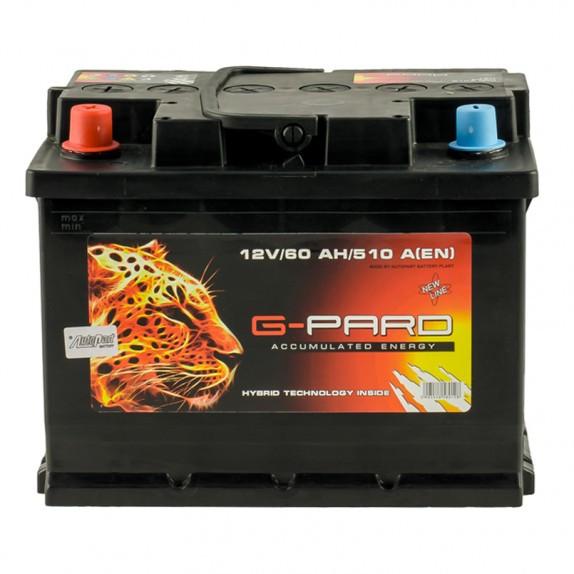 Аккумулятор G-Pard Standart 60 Ah (1) 510A L+
