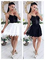 Женская юбка с двухслойным подъюбником