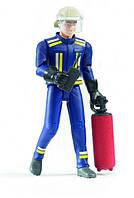 Игрушка Bruder Фигурка пожарника, 11 см, аксессуары (60100), фото 1
