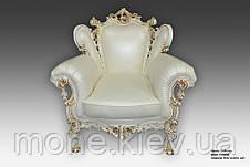 """Кресло в стиле барокко """"Белла"""" в коже, фото 2"""