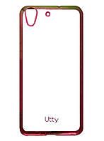 Силиконовый чехол Utty Electroplating TPU на Huawei Y6 II /Y6 2 Pink