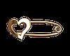 Золотая булавка сердце