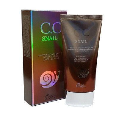 CC крем с улиточным муцином Ekel CC Snail Cream SPF50+,PA+++, фото 2