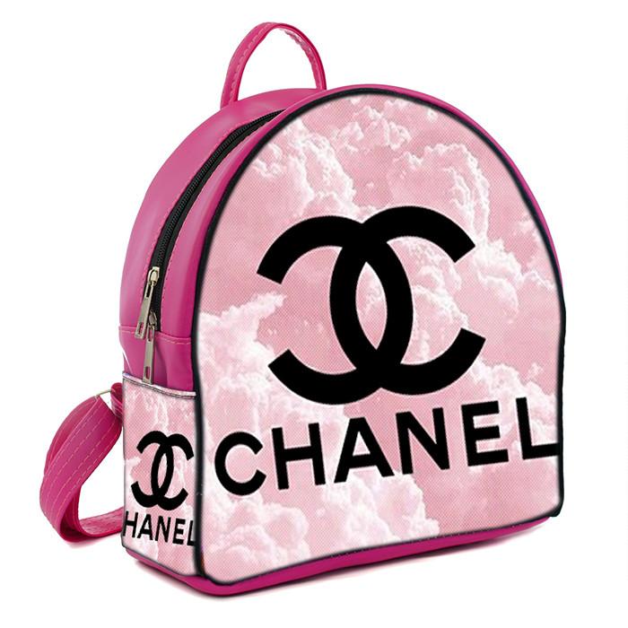 Розовый городской рюкзак с принтом Chanel
