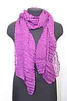 Шарфик женский жатка фиолетовый