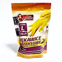 Перчатки для уборки Zosia Samosia с ароматом лимона 10шт