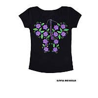 Жіноча футболка з вишивкою короткий рукав хлопок  всі розміри