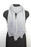 Шарфик женский жатка серый