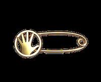 Золотая булавка рука