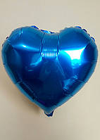 """Фольгированные шары """"Сердечки"""" 45 см Синий"""