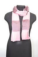 Шарфик женский легкий розовый