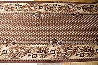 Дорожка ковровая плетение коричневая