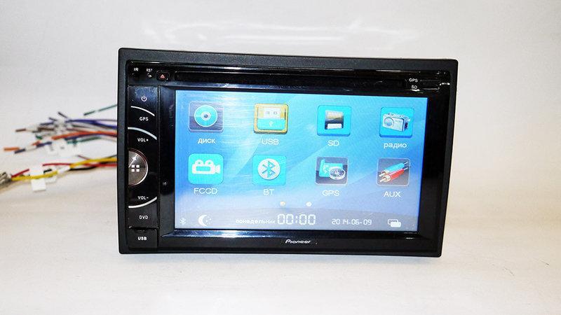 2din Магнітола Pioneer 7220 GPS+DVD+USB+SD+Bluetooth+TV + 8Gb карта пам'яті з навігацією