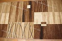 Дорожка ковровая квадраты коричневая