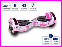Smartway смартвей гироскутер гироборд Scooter Smart Balance LAMBO 8 (BT + MUSIC) Розовый камуфляж