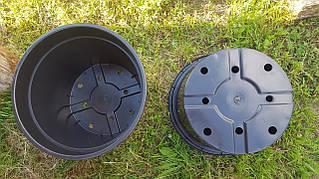Горшок для рассады 45л с бортом,46x34см,круглый,черный