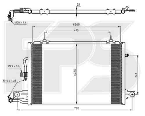 Радиатор кондиционера Audi / Skoda / Seat / VW (NISSENS) FP 12 K178