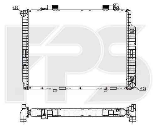 Радиатор охлаждения двигателя Mercedes 210 1995-1999 (E-CLASS)