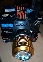 Фонарь на голову Dual light source zoom headlamp + ультрафиолет, фото 1