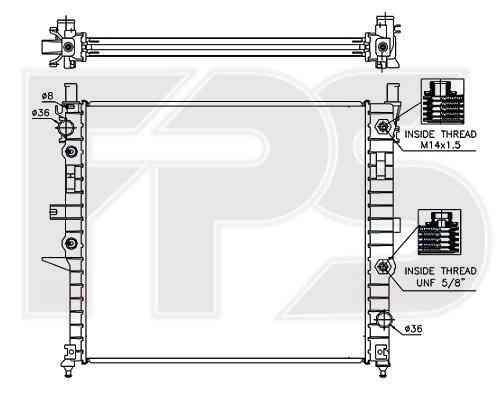 Радиатор охлаждения двигателя Mercedes (NRF) FP 46 A243-X