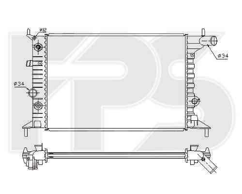 Радиатор охлаждения двигателя Opel (FPS) FP 52 A281-X