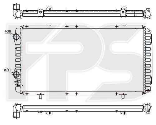 Радиатор охлаждения двигателя Citroen Jumper 1994-2001