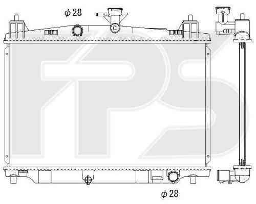 Радиатор охлаждения двигателя Mazda 2 DE (07-11) 1.5 МКПП (Koyorad)