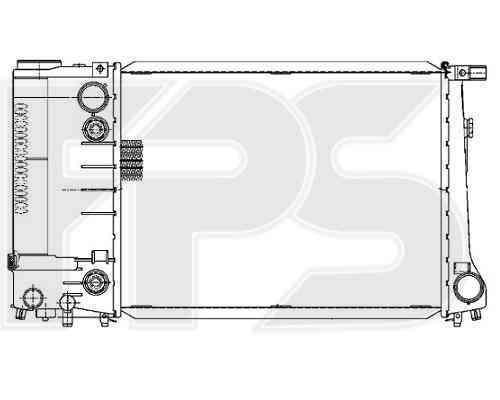 Радиатор охлаждения двигателя BMW 3 (E30) 1987-1991