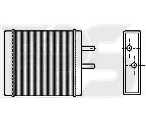 Радиатор печки Kia Sportage '99-05 (AVA) , фото 2