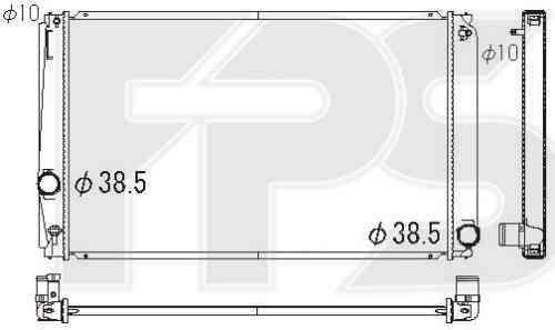 Радиатор охлаждения двигателя Toyota RAV4 2006-2010
