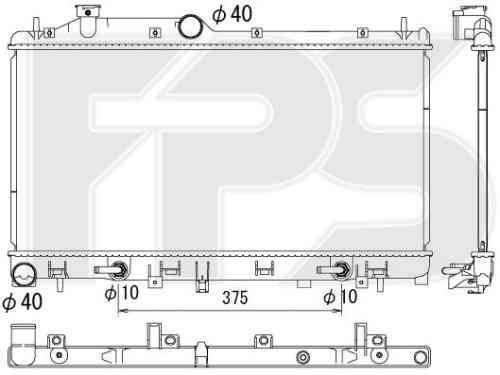 Радиатор охлаждения двигателя Subaru Legacy '09-14 АКПП 2.0 / 2.5 (Koyorad) 45119AJ020, фото 2