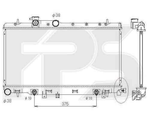 Радиатор охлаждения двигателя SUBARU (KOYORAD) FP 67 A1406-X