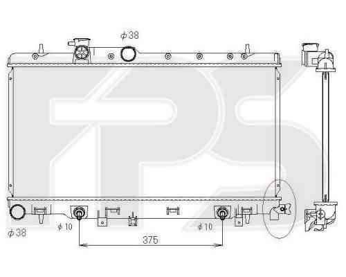 Радиатор охлаждения двигателя SUBARU (KOYORAD) FP 67 A1406-X , фото 2